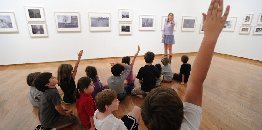 Visitors at the UM Museum receive a lesson integrated with a current exhibit.