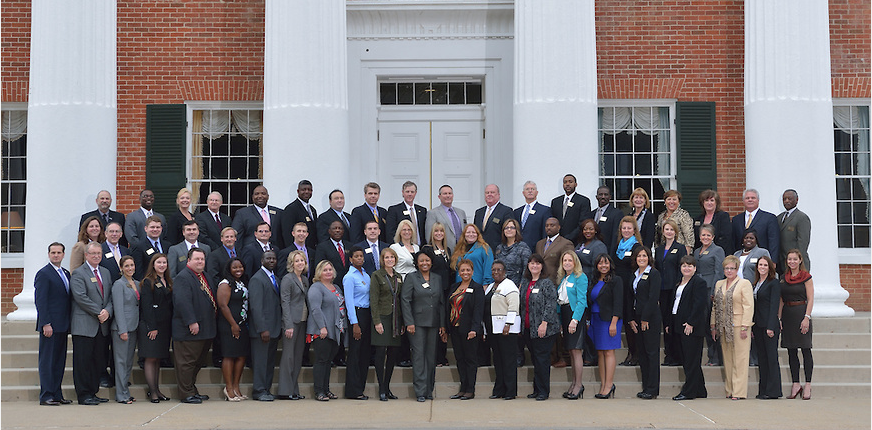 Members of Delta Leadership Institute's Executive Academy convene on the University of Mississippi campus.