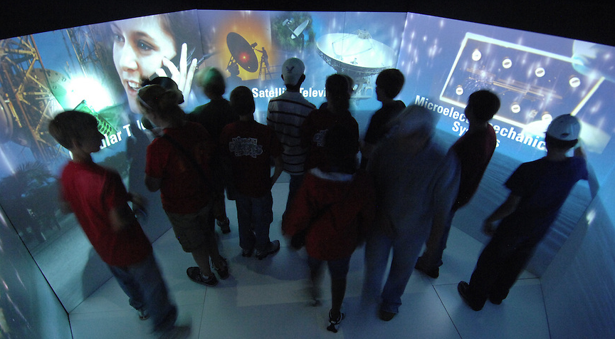 Students learn how modern technology is made possible by space research.