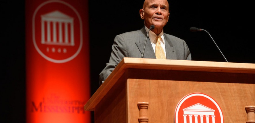 "Harry Belafonte delivered the keynote address at ""50 Years of Integration: Opening the Closed Society."""