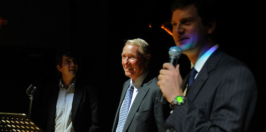 Joe York (left), 'Intruder in the Dust' star Claude Jarman, Jr. (center) and Micah Ginn (right)