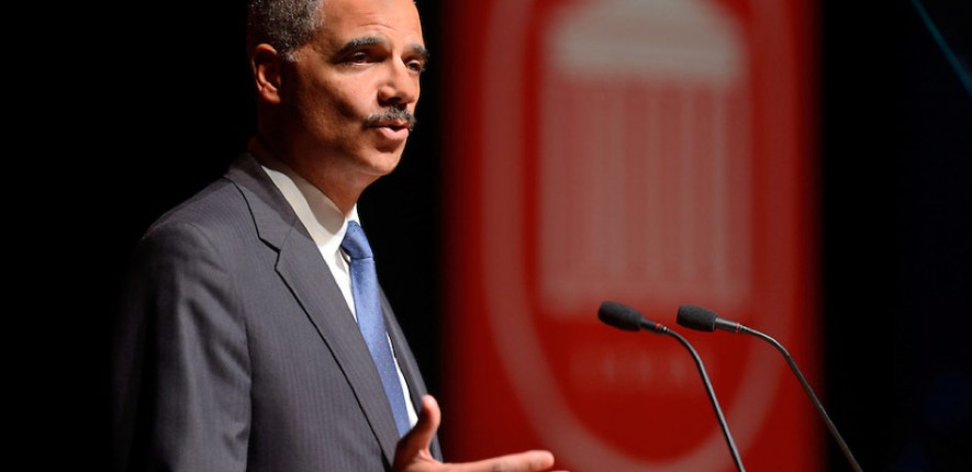 U.S. Attorney General Eric H. Holder speaks at the University of Mississippi.