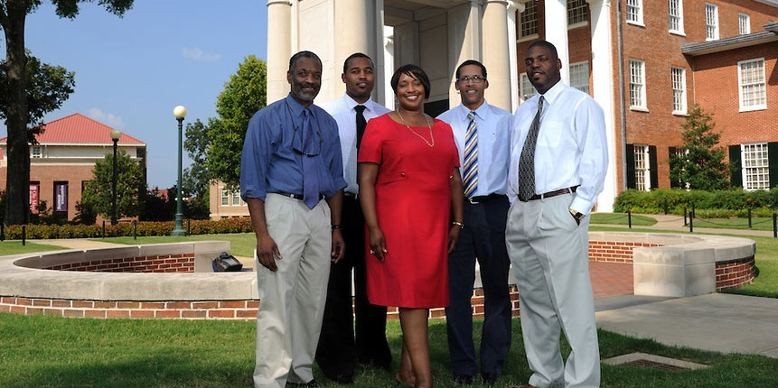 From left to right: Kirk Johnson, Maurice Hobson, Ethel Young-Minor, Marvin King and Chuck Ross.